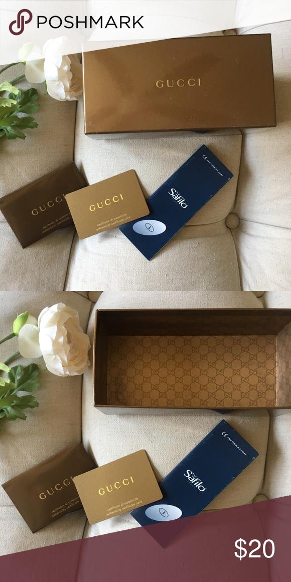 1c9e4d6e743 Authentic Gucci Sunglass Box Comes with authenticity card and information  booklet Gucci Accessories Sunglasses