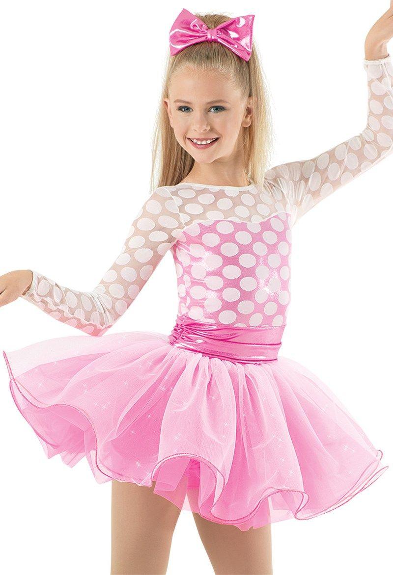 346df1e1c1b5 Weissman™   Dot Mesh Sequin Glitter Tulle Dress   Dance costumes in ...