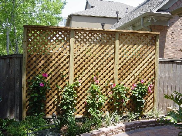 Lattice and trellis fence outdoor stafford tx for Lattice yard privacy screen