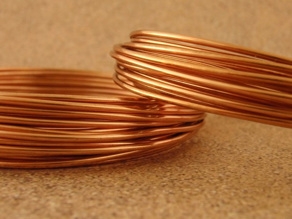 Solid Copper Wire Dead Soft 100 Guarantee You Pick Gauge Etsy Copper Wire Copper Jewelry Making