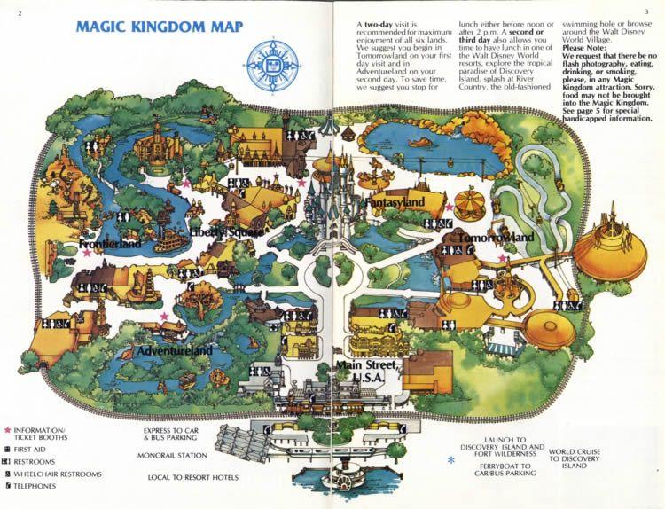 1981 Magic Kingdom Park Map | My favorite Disney memories ...