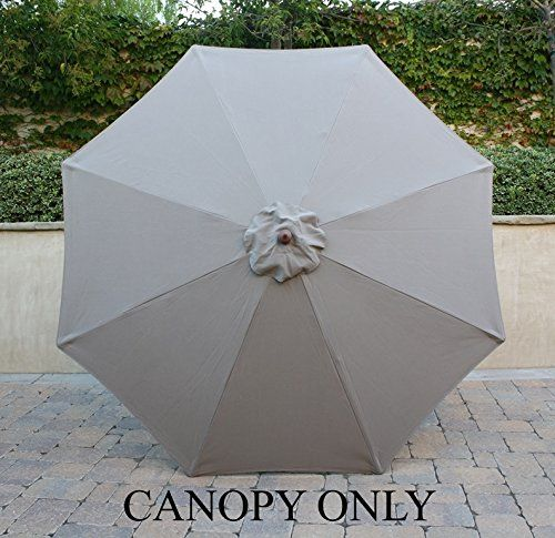 Wonderful 9ft Market Umbrella Replacement Canopy 8 Ribs Taupe (Canopy Only) Formosa  Covers Http:
