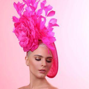 SACASUSA Feather Fascinator Flower Polka Dot Net Headwear