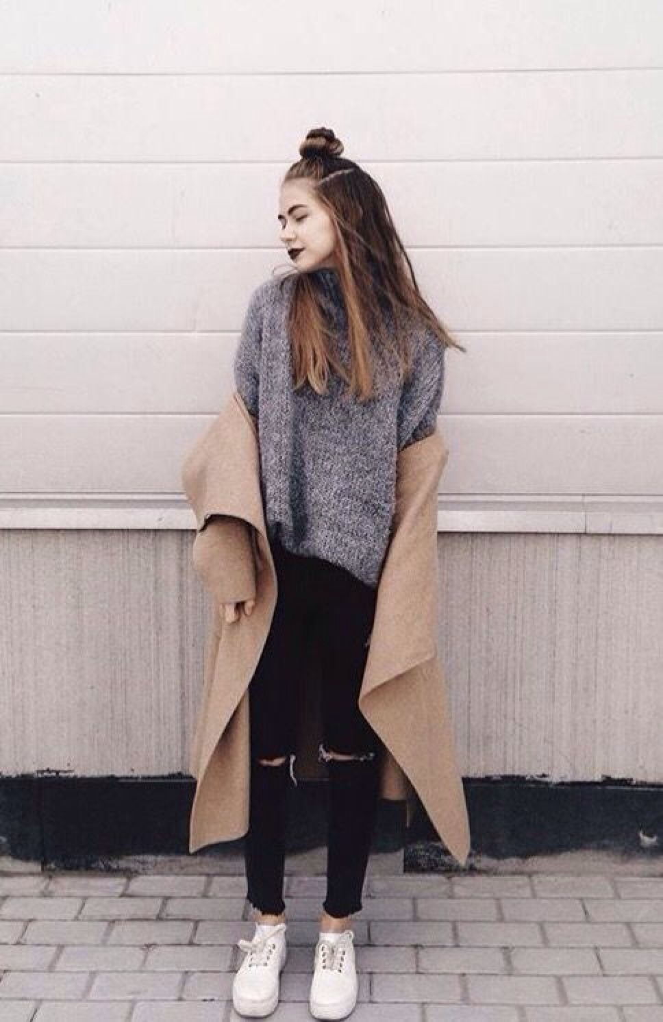 Girls Hipster fashion tumblr winter pictures rare photo