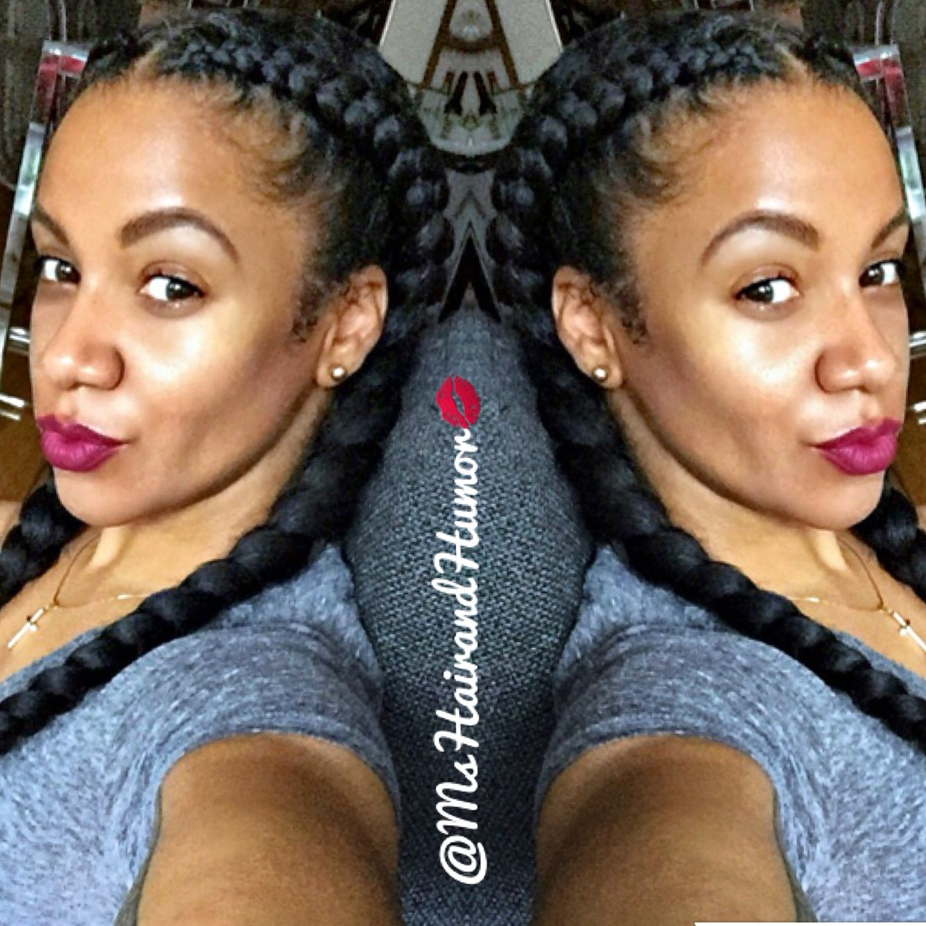 Keeping It Sweet And Simple With Two Cornrow Goddess