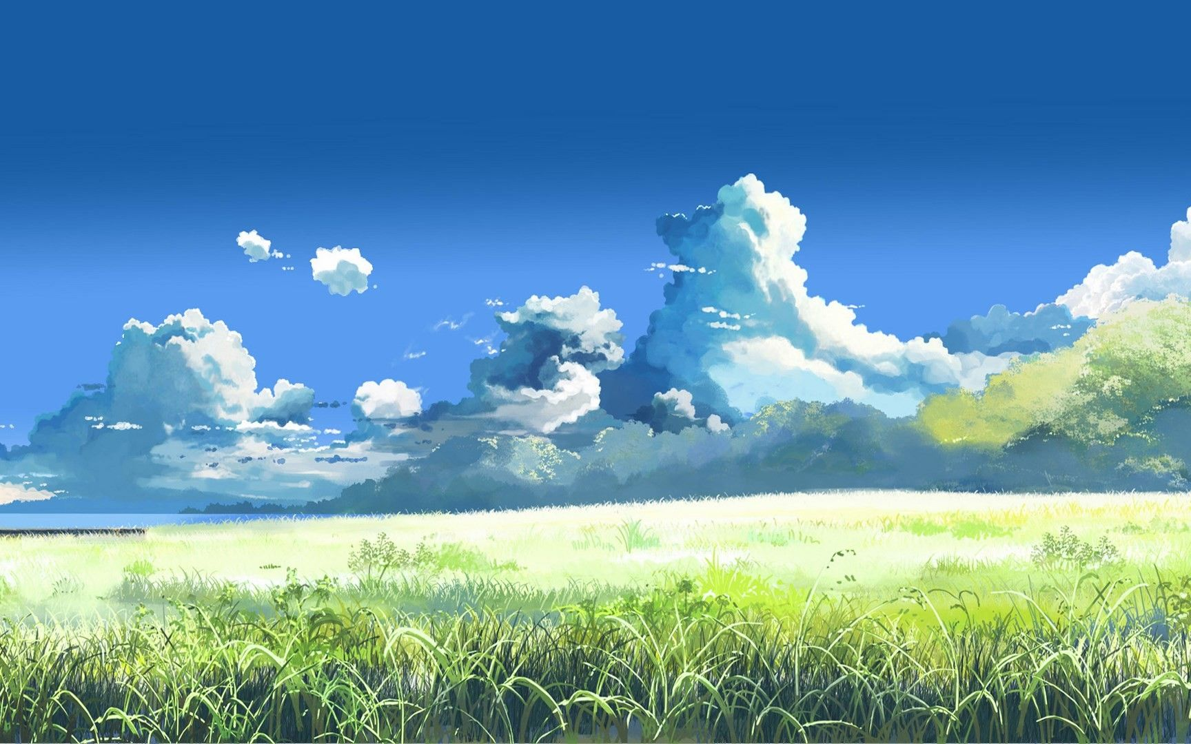 Clouds Lake Forest Grass Wallpaper No 36701 Anime Scenery Scenery Wallpaper Anime Scenery Wallpaper