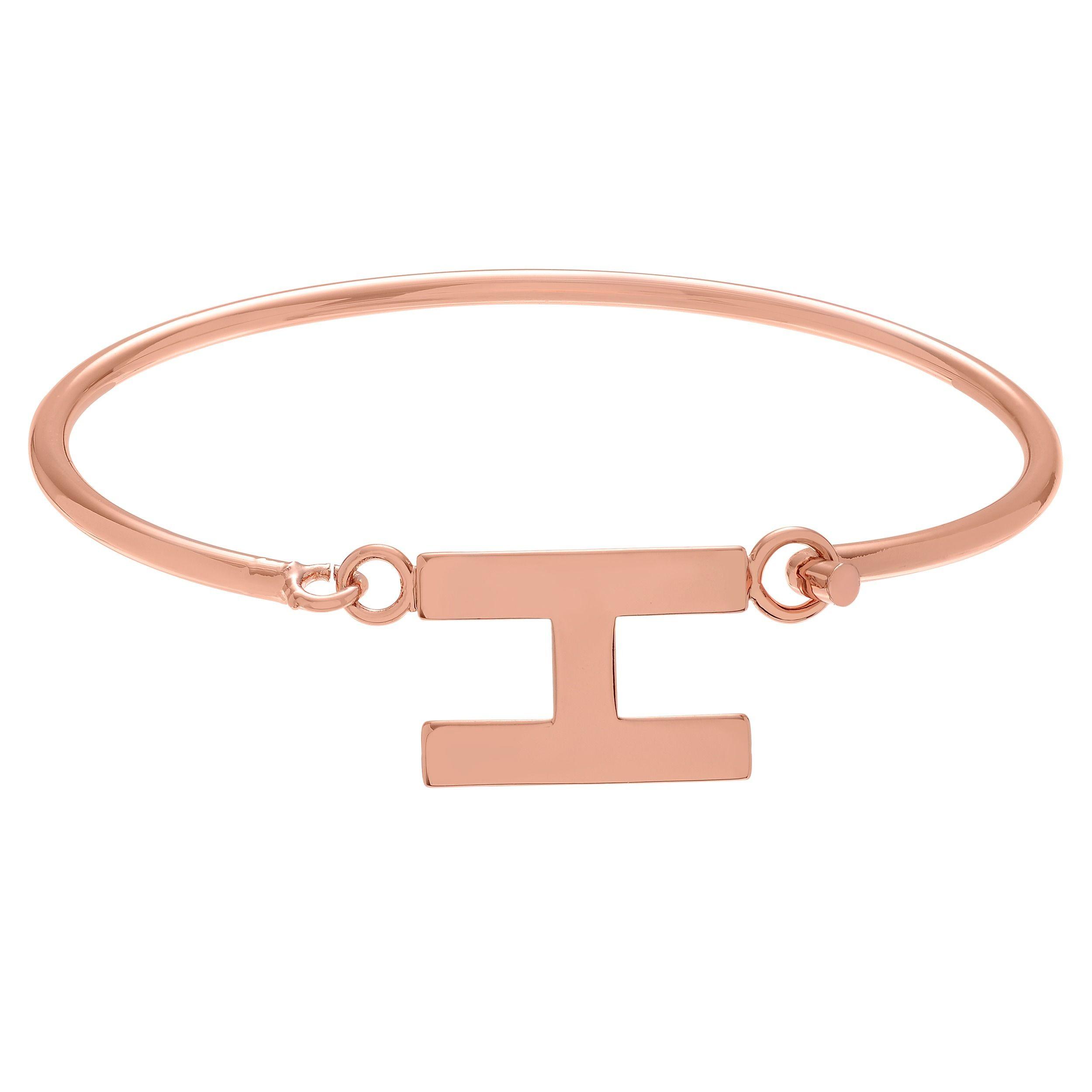 Journee collection rose goldtone initial bangle bracelet z