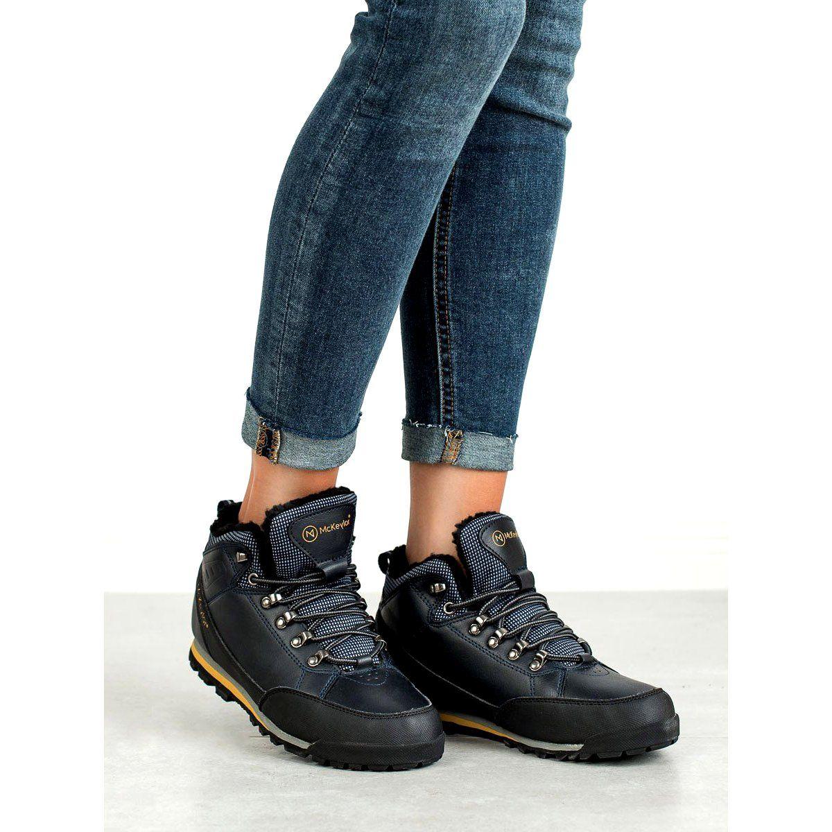 Cieple Buty Trekkingowe Mckeylor Niebieskie Blue Shoes Shoes Trekking Shoes