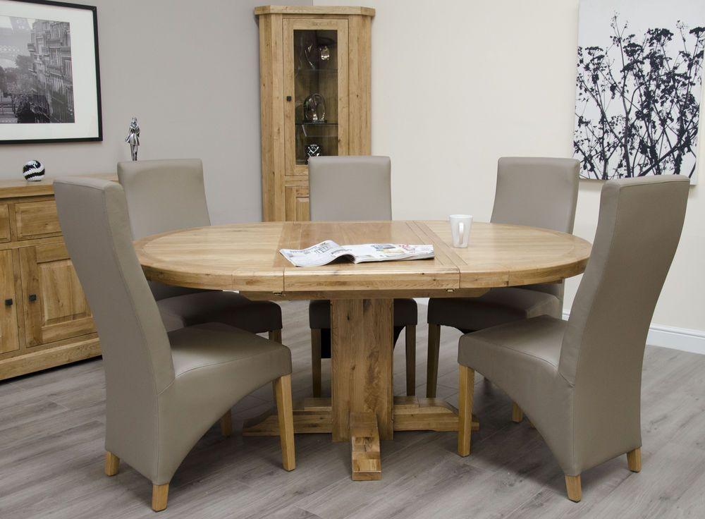 Magnificent Details About Montero Solid Oak Furniture Round 125Cm Interior Design Ideas Tzicisoteloinfo