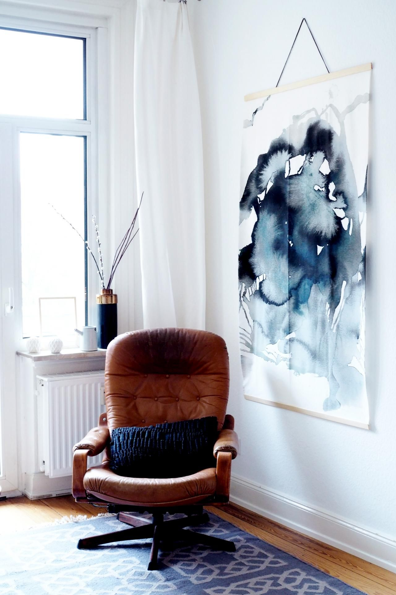 Attractive Wandbilder Selbst Gestalten Ideas Of Ikea Hack: Diy-aquarell-bild Im Großformat | Wall
