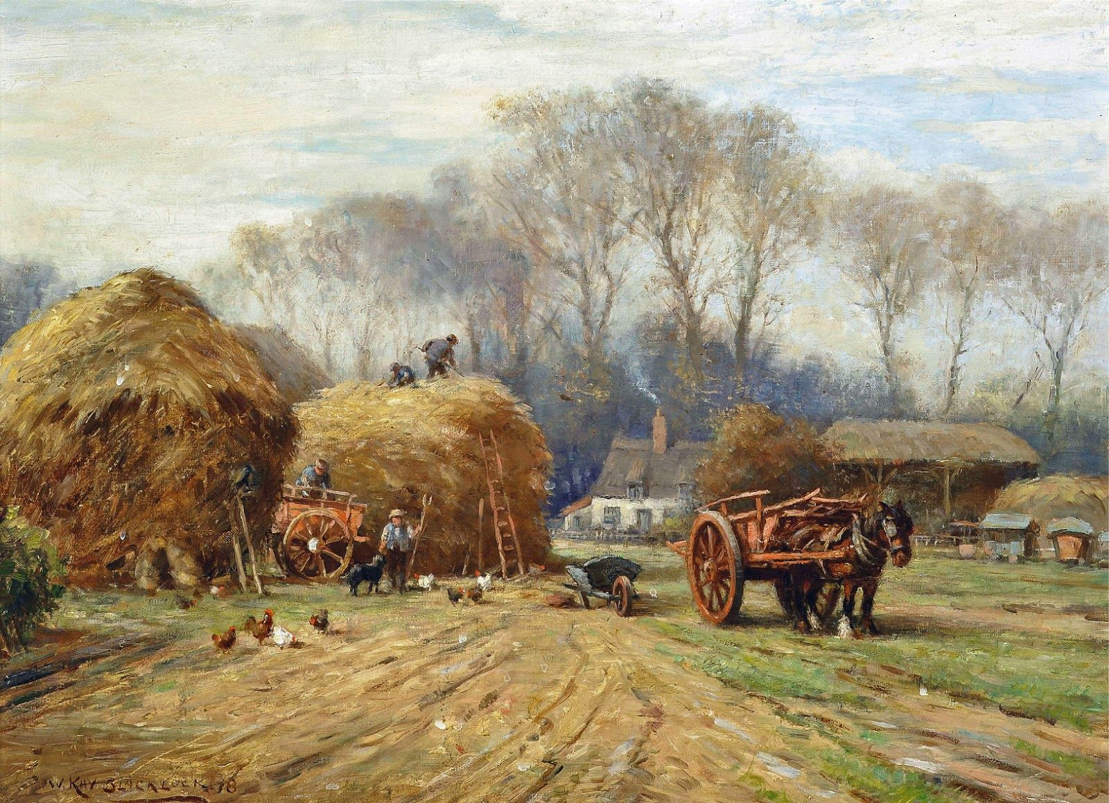 William Kay Blacklock Paintings Victorian British Painting W Is For William Farm Art Landscape Paintings