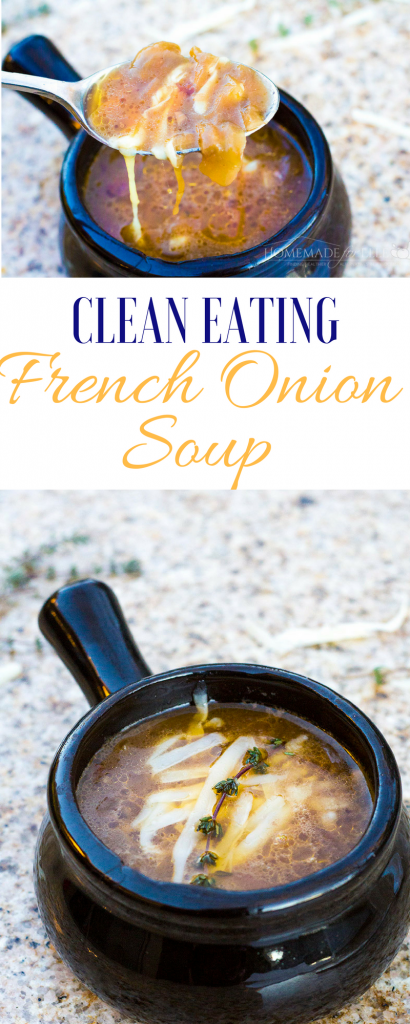Clean Eating French Onion Soup | homemadeforelle.com