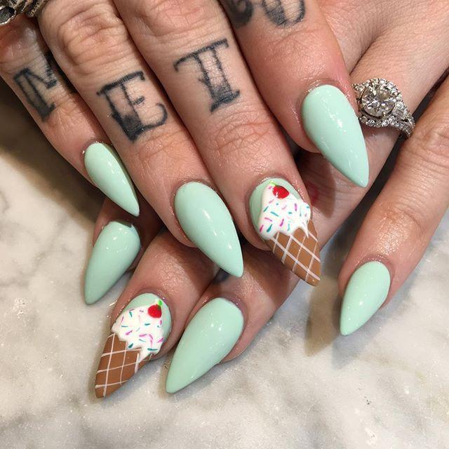 Ice Cream Nails: 21 Ice Cream Nail Designs