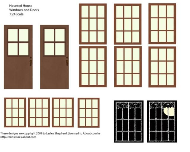 Make quick haunted houses from recyclables dollhouse 1 - Printable ho scale building interiors ...