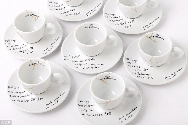 The collection of espresso cups designed by Yoko One make reference to some harrowing worl...