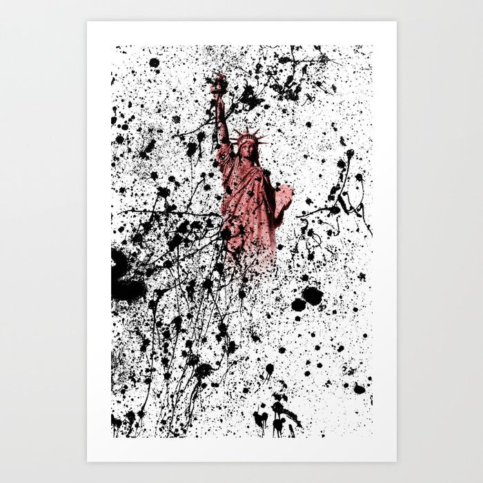 STATUE of LIBERTY splatter. FOR SALE price from 19,99$. Collect your ...