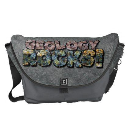 teacher - #Geology Rocks! Messenger Bag | teachers | Bags