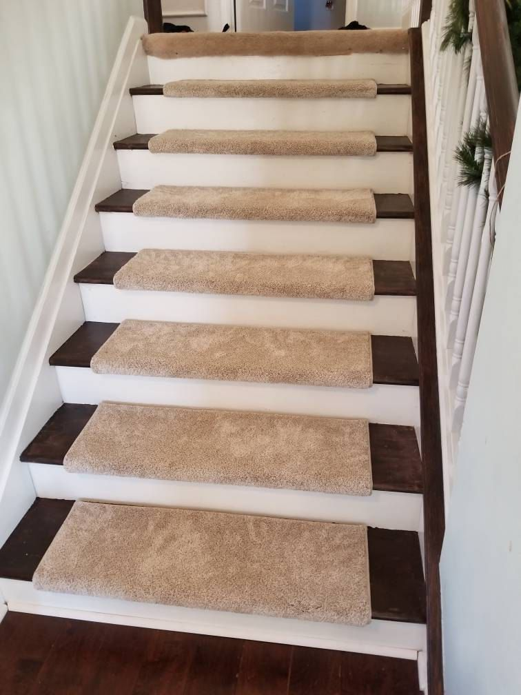 Bozeman 100 Wool True Bullnose™ Padded Carpet Stair Tread Etsy   Thick Carpet Stair Treads   Non Slip   Cut Pile   Bullnose Carpet   Slip Resistant   Flooring