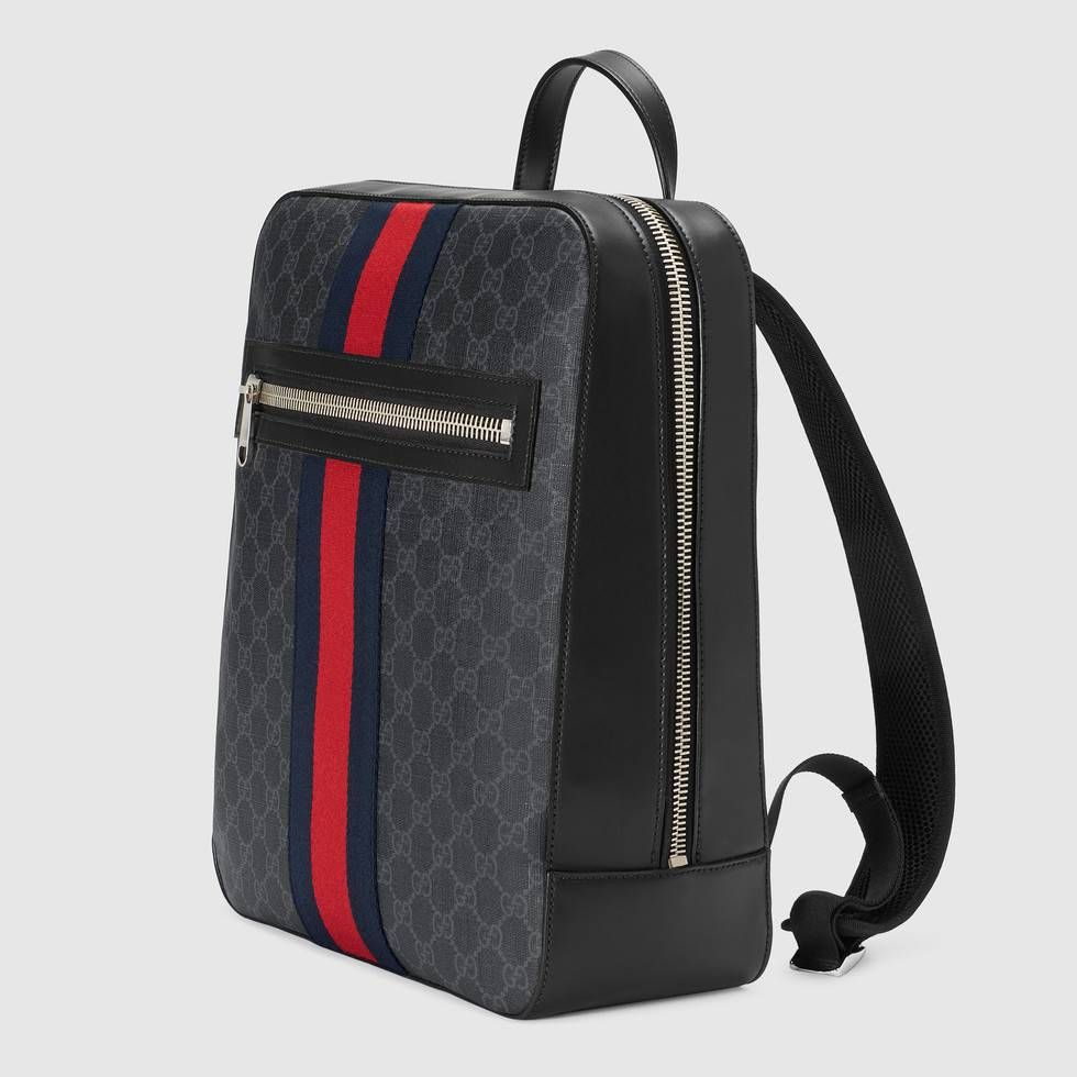 e6611cb8255d Gucci GG Supreme backpack with Angry Cat Detail 2