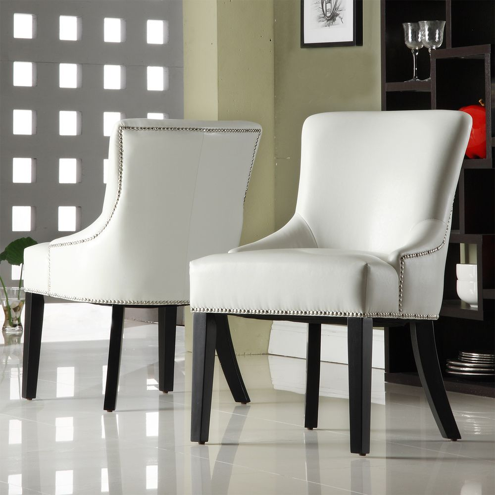 Westmont White Faux Leather Chairs (Set Of 2) | Overstock.com $285/