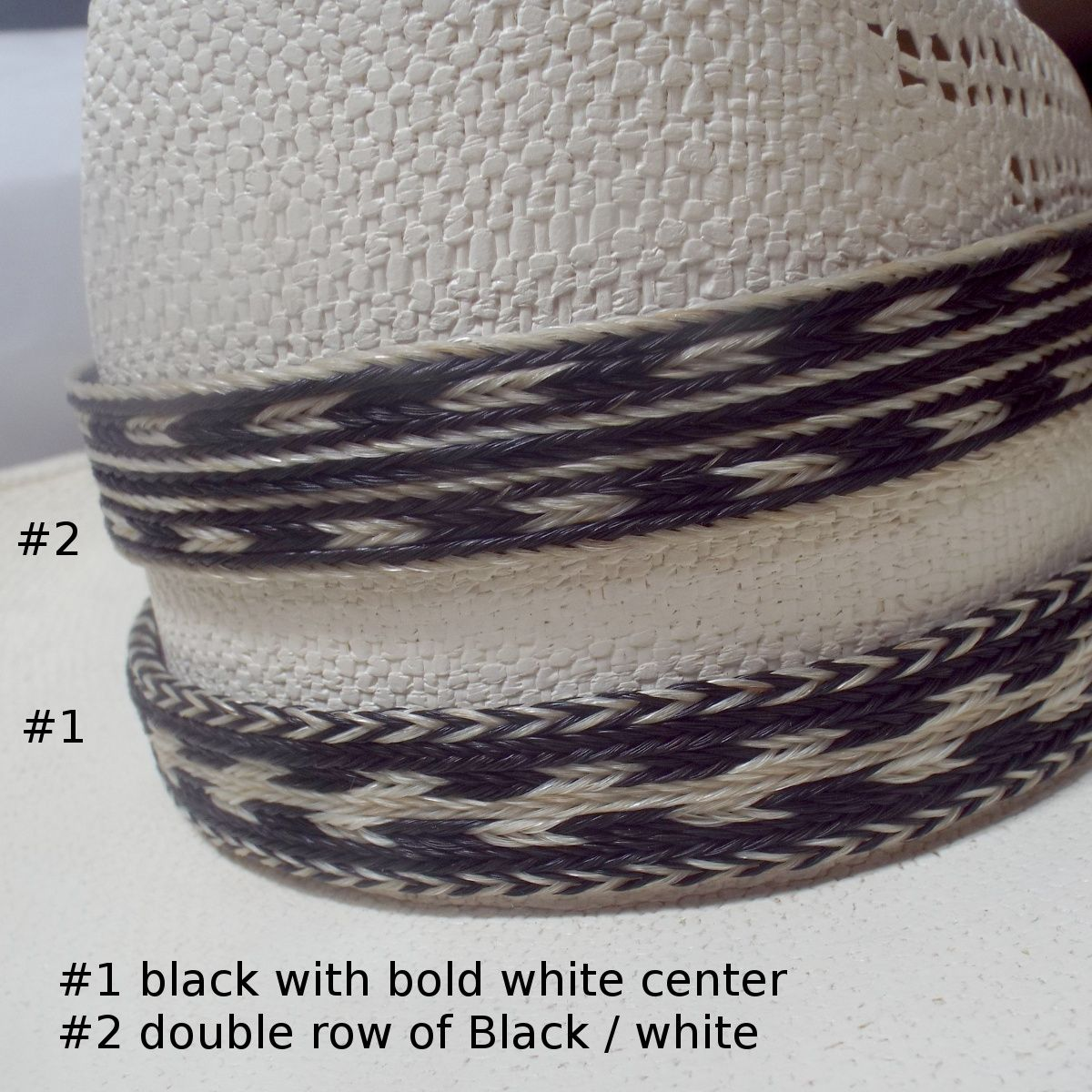 4d99da5cc31 7 stand double tassel horse hair hat band Knot-a-Tail.com