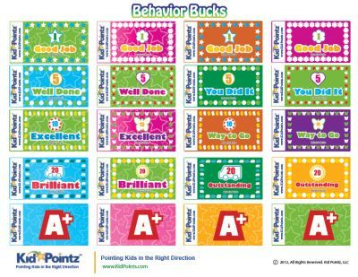 classroom bucks template - free parenting and child behavior resource center