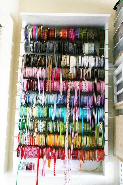 Ribbon Holder Sewing Room Organization Ribbon Organization Craft Room Office