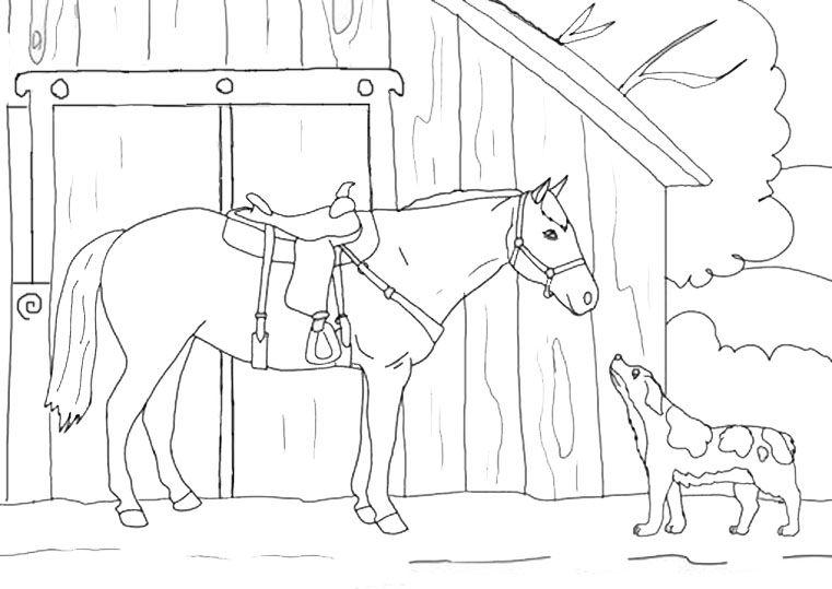 Ausmalbilder Pferde Und Hunde | Ausmalbilder | Pinterest ...