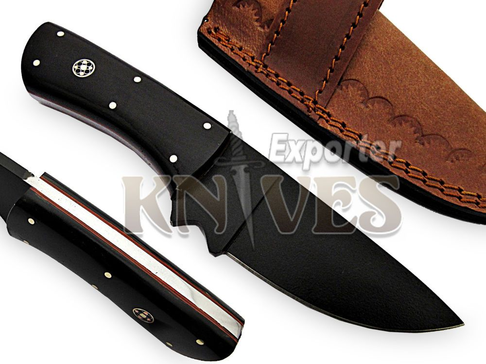 Custom Handmade Rail Road Steel Fixed Blade Hunting Knife by Knives Exporter 205 #KnivesExporter