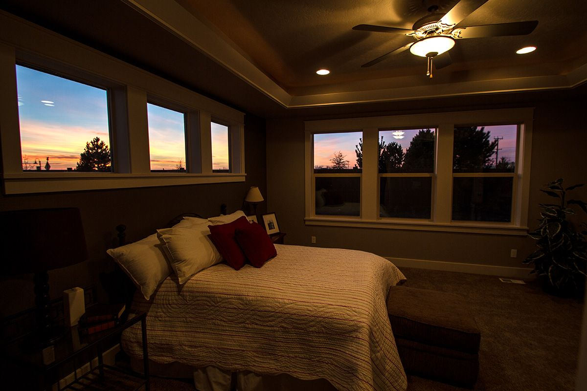 Master Bedroom From The Milan By Eaglewood Homes Boise Meridian Twin Falls Idaho