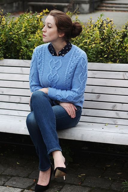 A Gap sweater and shirt as featured on the blog @Ladies In Navy.
