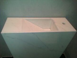 ilôt vasque marbre statuaire