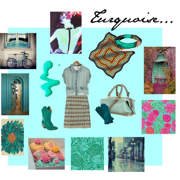 turquoise..., created by #anthrofashionist on #polyvore. #fashion #style #Marni #Mulberry