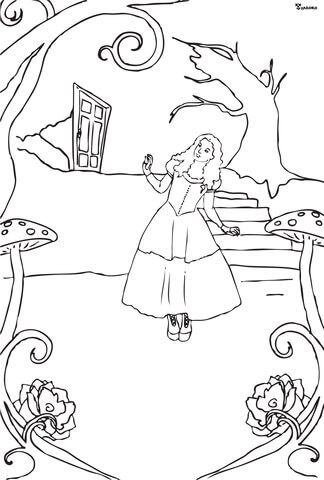 Alice No Pais Das Maravilhas Pagina Para Colorir Com Imagens