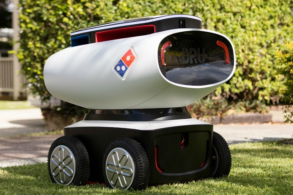 Domino's have built a self-driving pizza delivery robot...