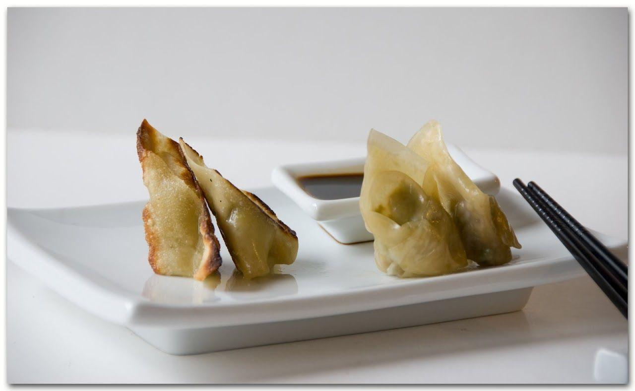 edamame & pea dumplings