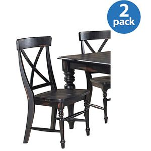 Generic Imagio Home Roanoke X Back Dining Side Chairs Set Of 2 Rubbed Black Walmart Com Side Chairs Dining Home Black Dining Side Chair