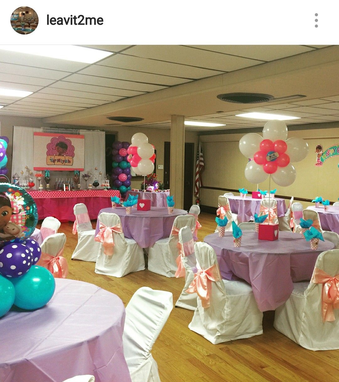 Doc Mcstuffins Birthday Party Table Setting