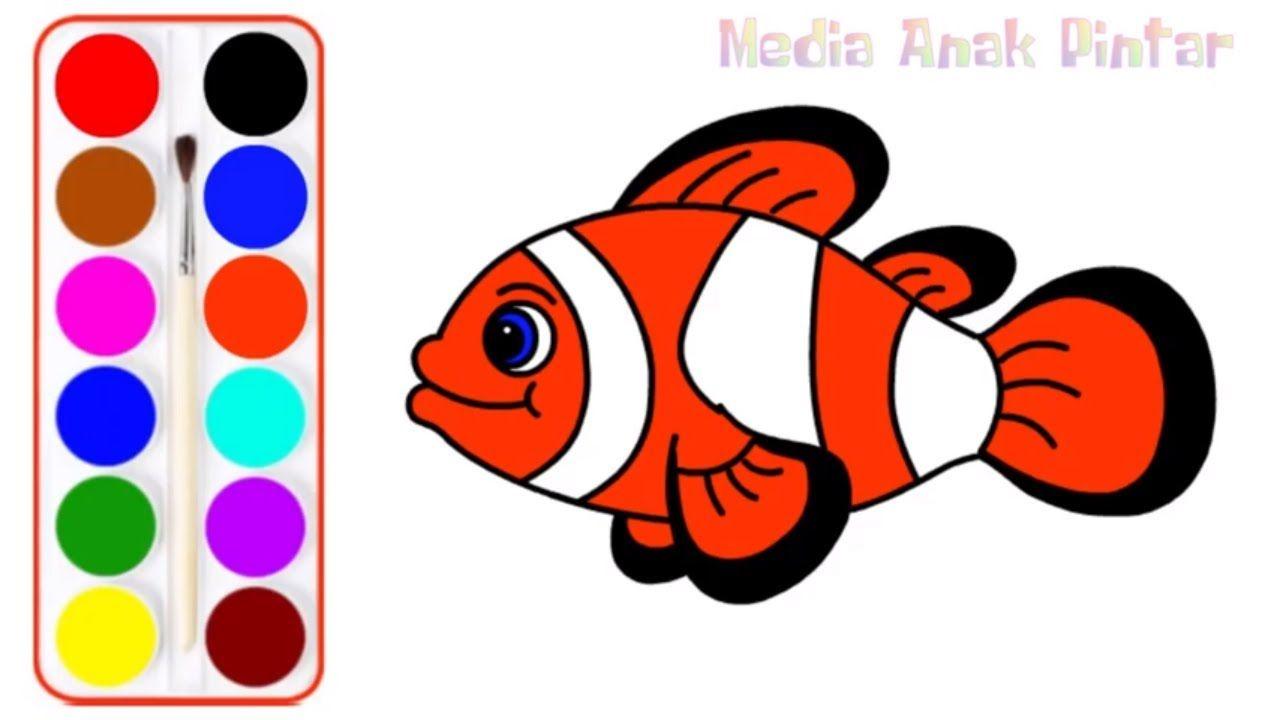 Ikan Badut Juga Sangat Mudah Untuk Digambar Dengan Melihat