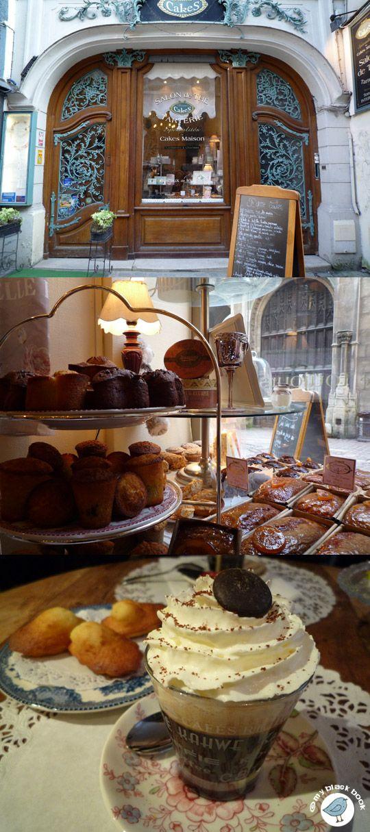 Salon de thé à Rouen, près de la cathédrale