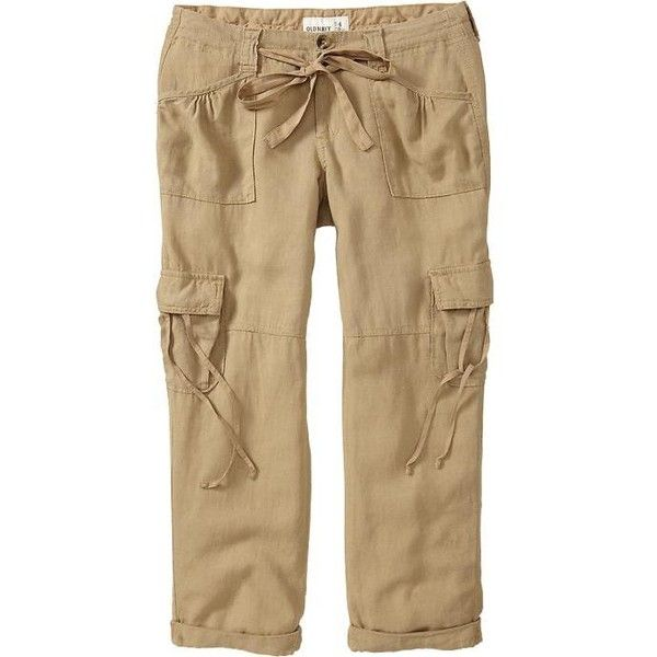 Old Navy Womens Linen Blend Cargo Capris 23' ($18) ❤ liked on ...