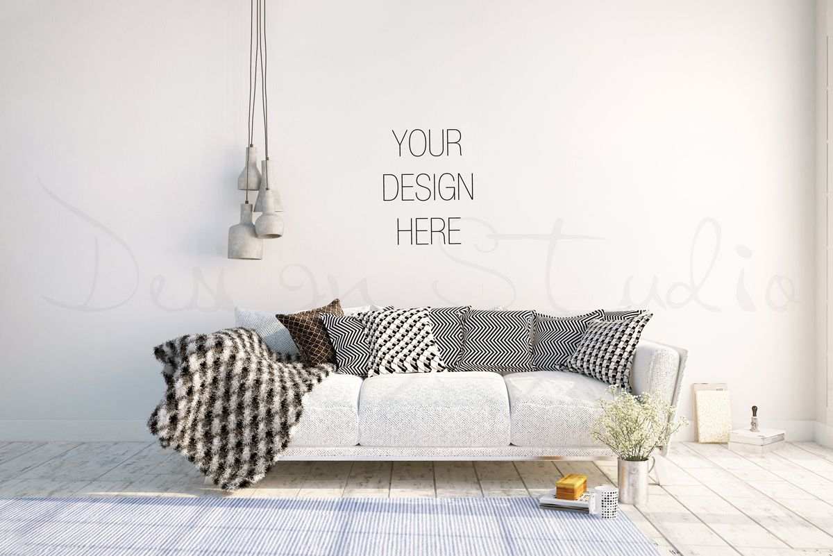 Blank Wall Mockup,Styled Photography by HisariDS Mockup Design on ...