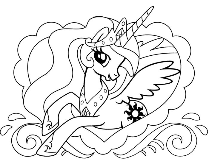 Princess My Little Pony Coloring Page   Coloring :)   Pinterest ...