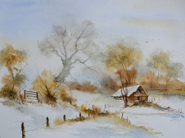 Epingle Par Carine Eechaute Sur Aquarel Landschappen Aquarelle