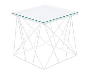 Mesa auxiliar en acero y cristal Ramas I