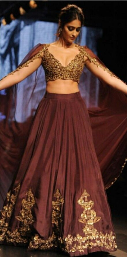 52a6eb6dfb Such a beautiful unique indian outfit! #unique #indian #indianoutfit # indianbridal #indianfashion #lehenga #fashion #style