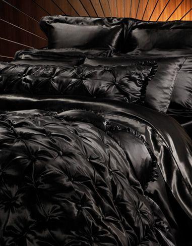 Black Bedspread On Pinterest
