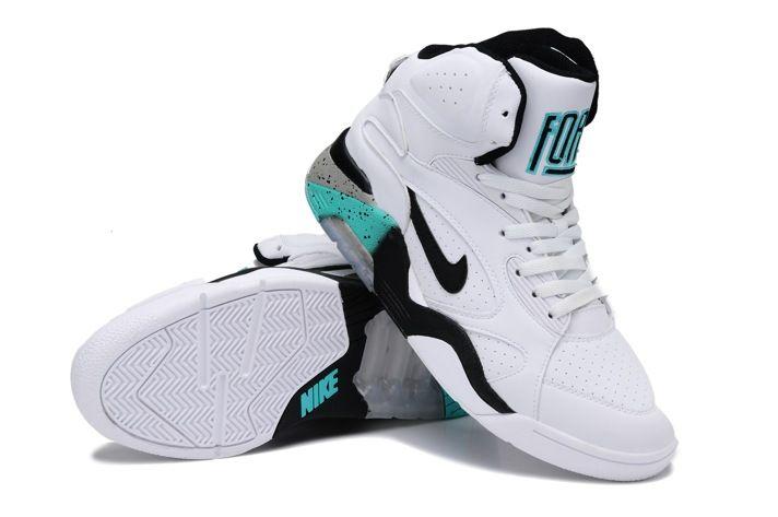 Nike Air Force 180 Mid Charles Barkley Pour Hommes Chaussures Blanc Bleu( Basket-ball