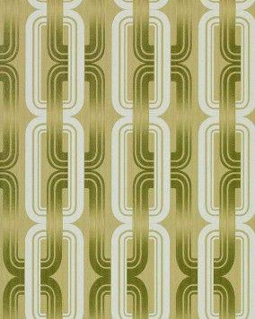 Wonderlijk EDEM 038-25 Jaren 70 interieur behang retro behang groen-geel CV-87