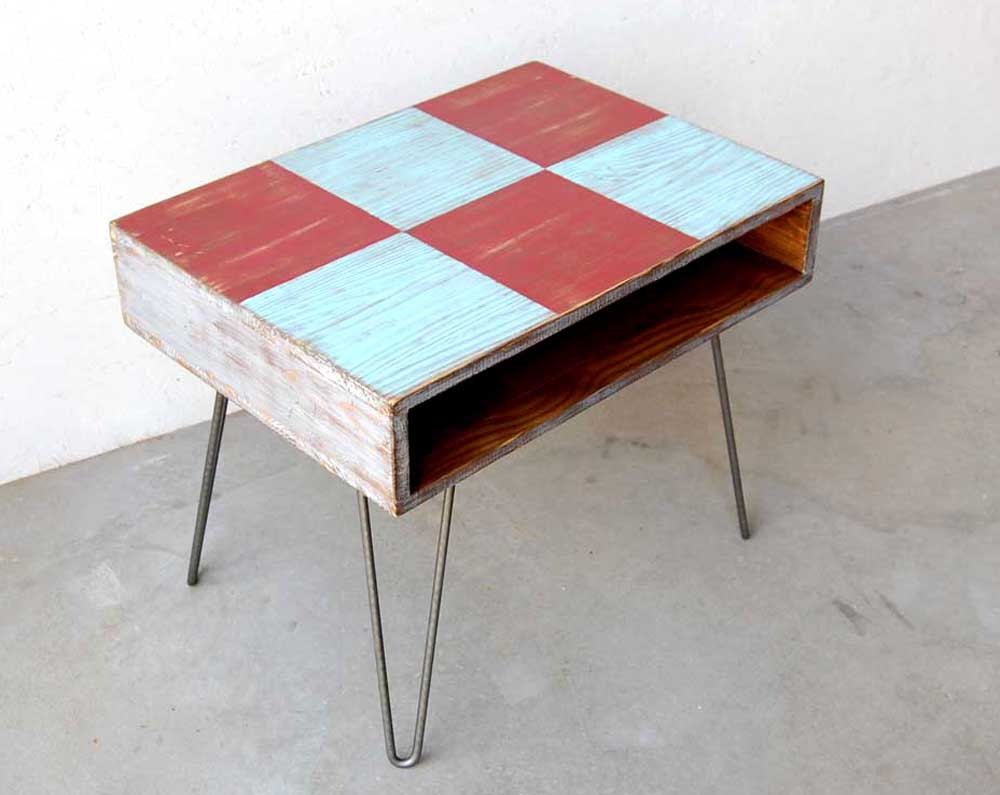 Wood coffee table mid century painted hairpin legs metal turquoise wood coffee table mid century painted hairpin legs metal turquoise red silver 22500 via geotapseo Images